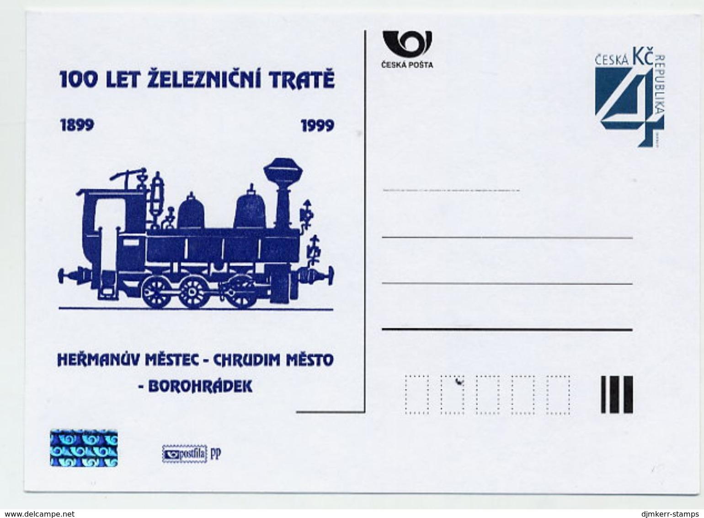 CZECH REPUBLIC 1999 4 Kc Railway Centenary Privately Printed Postcard Unused. - Postal Stationery