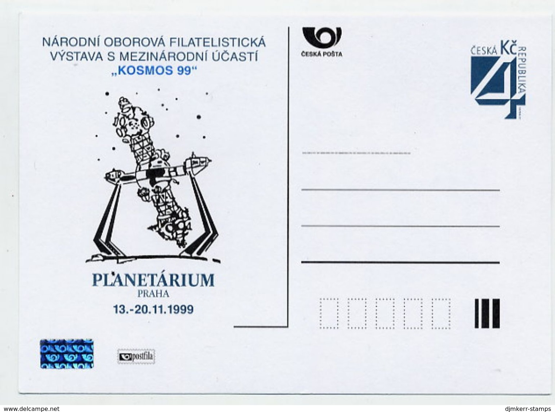 CZECH REPUBLIC 1999 4 Kc KOSMOS '99 Exhibition Postcard Unused.  Michel P27-A2 - Postal Stationery