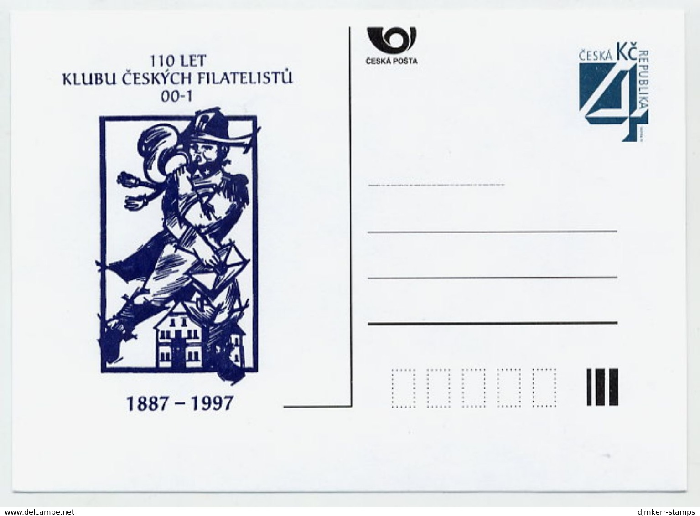 CZECH REPUBLIC 1997 Czech Philatelists Club Privately-printed  Postcard Unused. - Postal Stationery