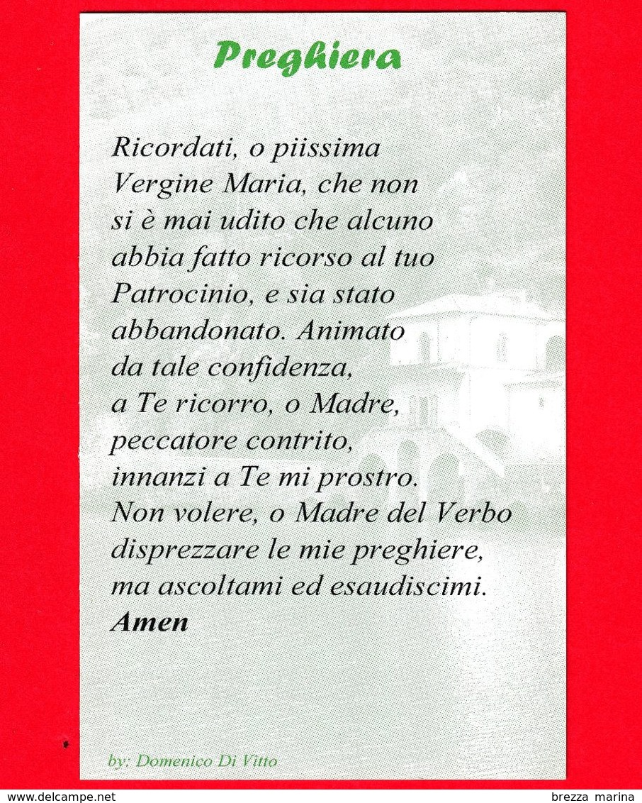 Santino - Immagini Sacre - Italia - Madonna Del Lago - Scanno - Abruzzo - Santini