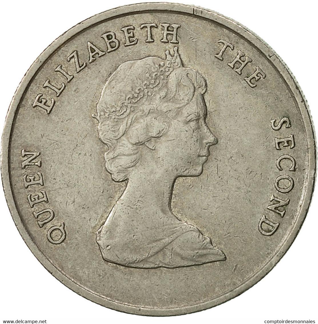 Monnaie, Etats Des Caraibes Orientales, Elizabeth II, 25 Cents, 1989, TTB - East Caribbean States