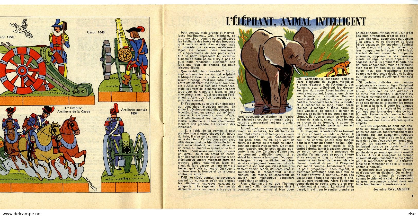 TOTAL JOURNAL 1965 N°44   LES CHEVAUX DE CIRQUE L ELEPHANT  ANIMAL INTELLIGENT  ETC ... 15  PAGES - Boeken, Tijdschriften, Stripverhalen