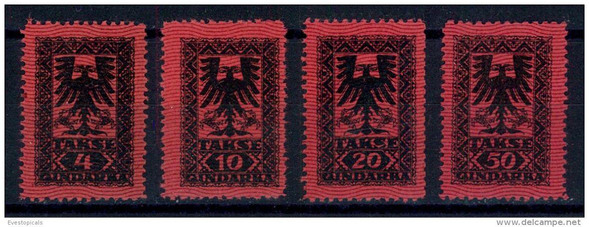 ALBANIA, FULL SET POSTAGE DUE STAMPS 1922 MHN - Albania