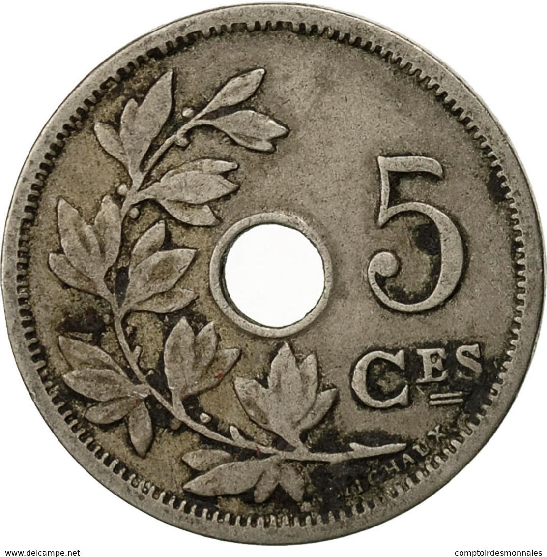 Belgique, 5 Centimes, 1905, TB+, Copper-nickel, KM:54 - 03. 5 Centimes