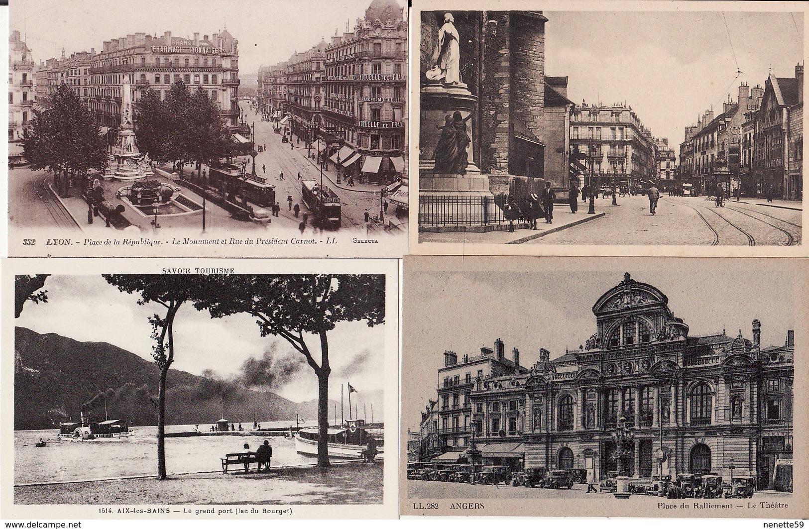 FRANCE -- Lot De + De 600 Cartes Postales Anciennes  -- ( Dos Divisé Et Non Divisé ) Bon Etat - Cartes Postales
