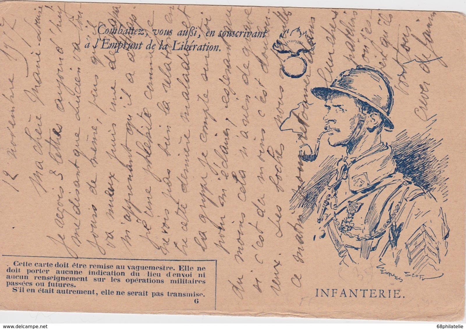FRANCE 1917 CARTE DE FRANCHISE MILITAIRE - Marcofilia (sobres)