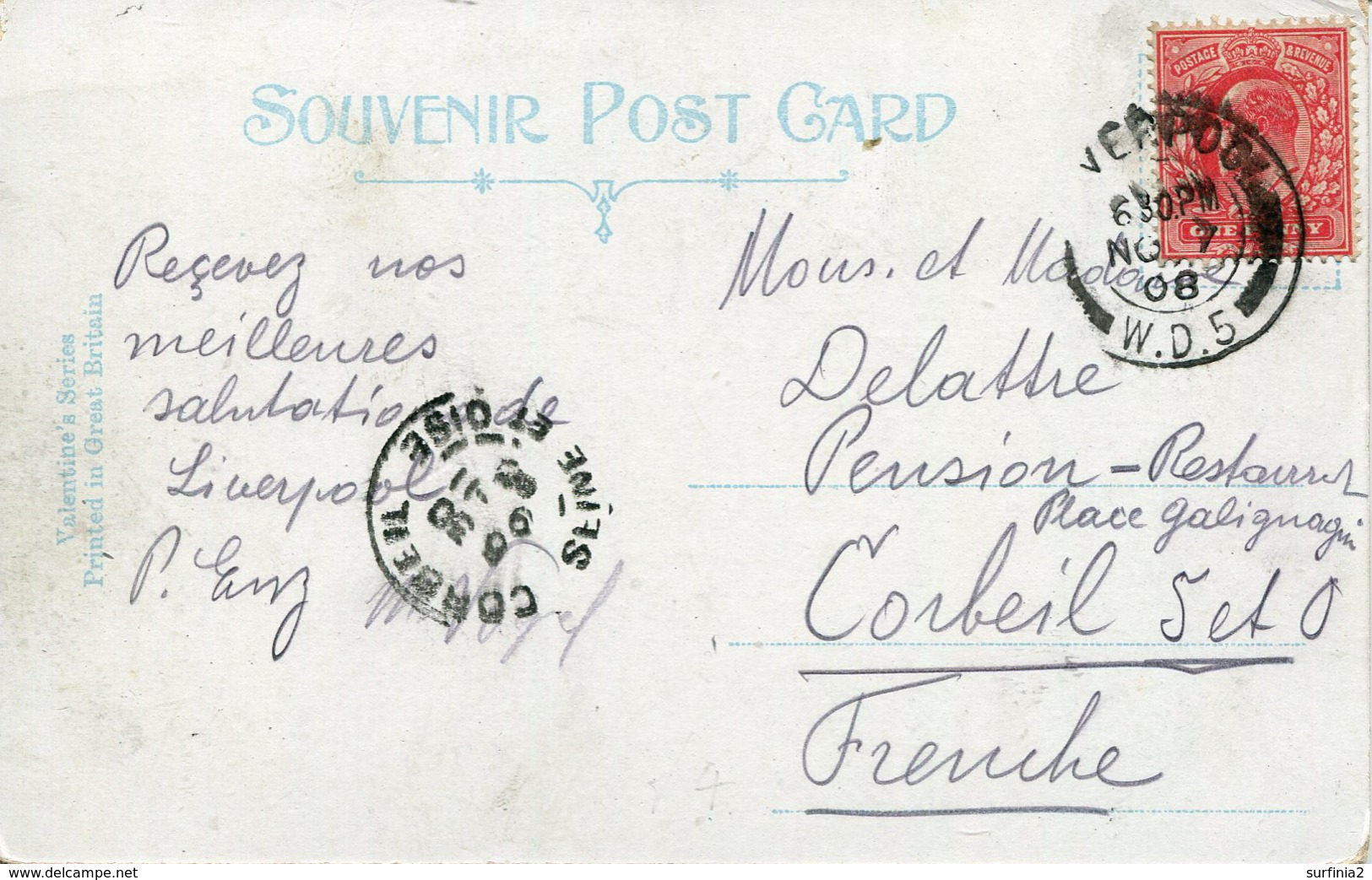 MERSEYSIDE - LIVERPOOL - JAMES STREET 1908 Me777 - Liverpool