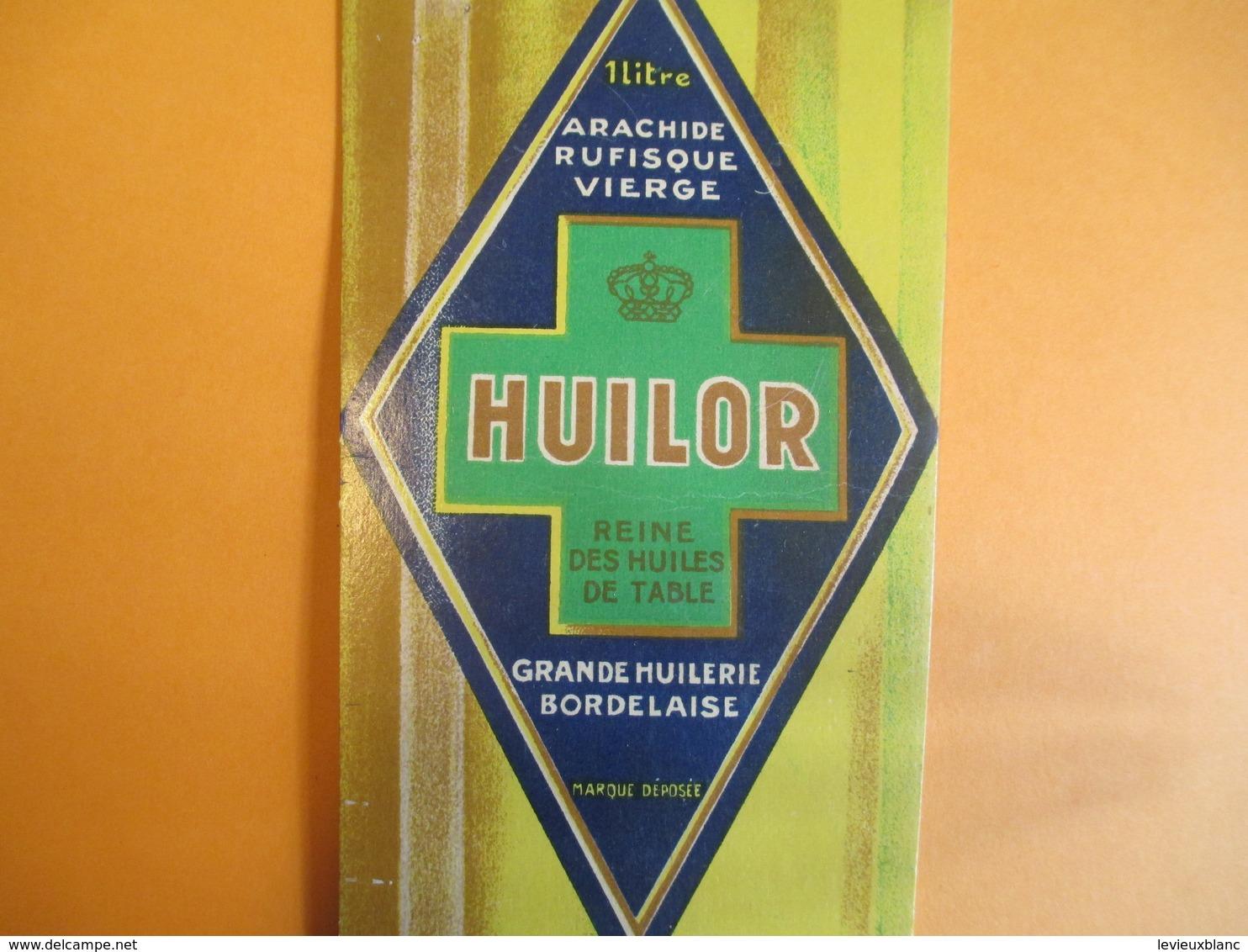 Publicité/ Plaque Carton/ HUILOR/Arachide Rufisque Vierge/Grande Huilerie Bordelaise / BORDEAUX/ Vers 1930-50     BFP203 - Placas De Cartón