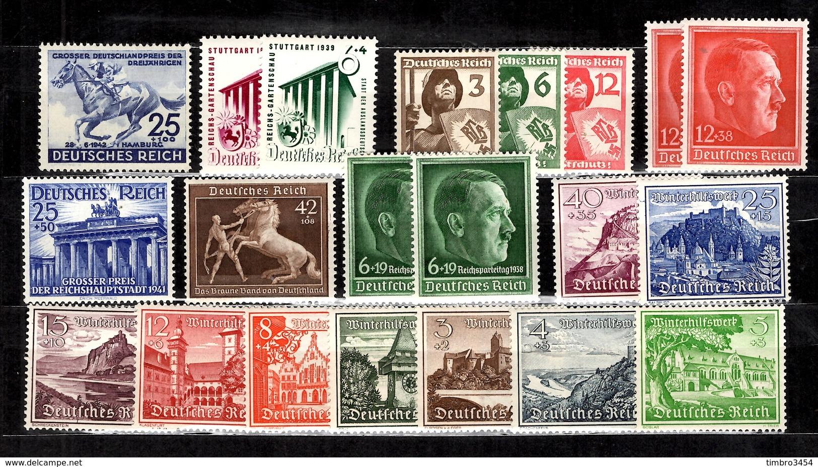 Allemagne/Reich Belle Petite Collection Neufs ** MNH 1938/1943. Bonnes Valeurs. TB. A Saisir! - Collections