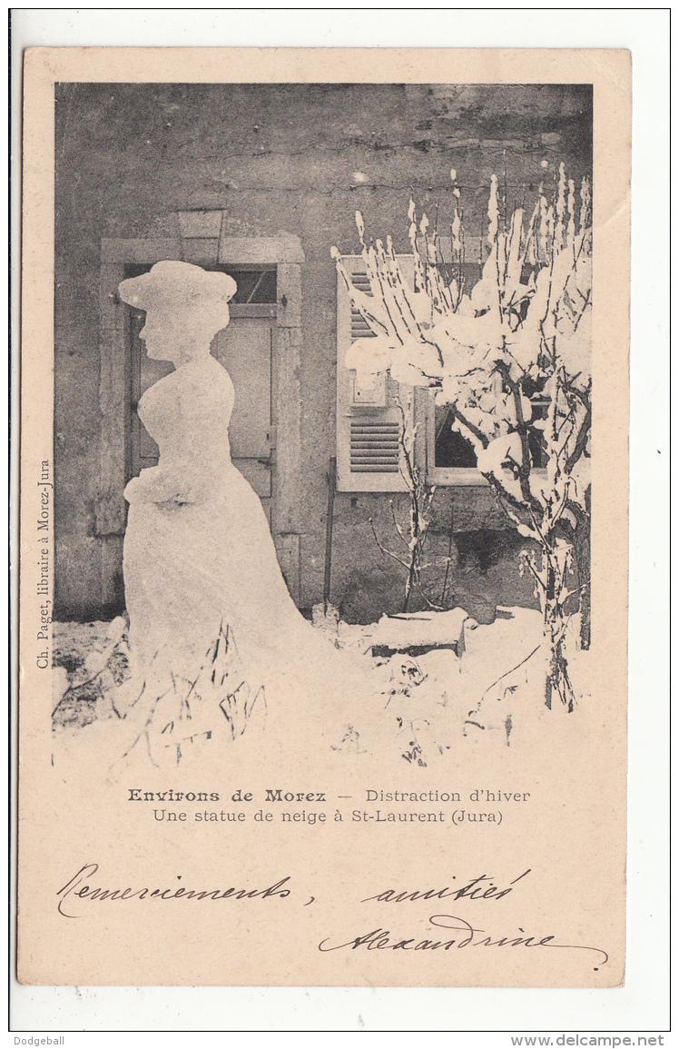 39 - St-laurent-du-jura - Distraction D'hiver - Une Statue De Neige - Autres Communes