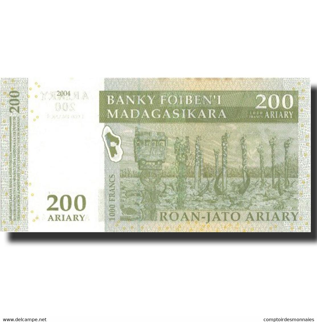Billet, Madagascar, 200 Ariary, 2004, 2004, KM:87a, SPL+ - Madagascar