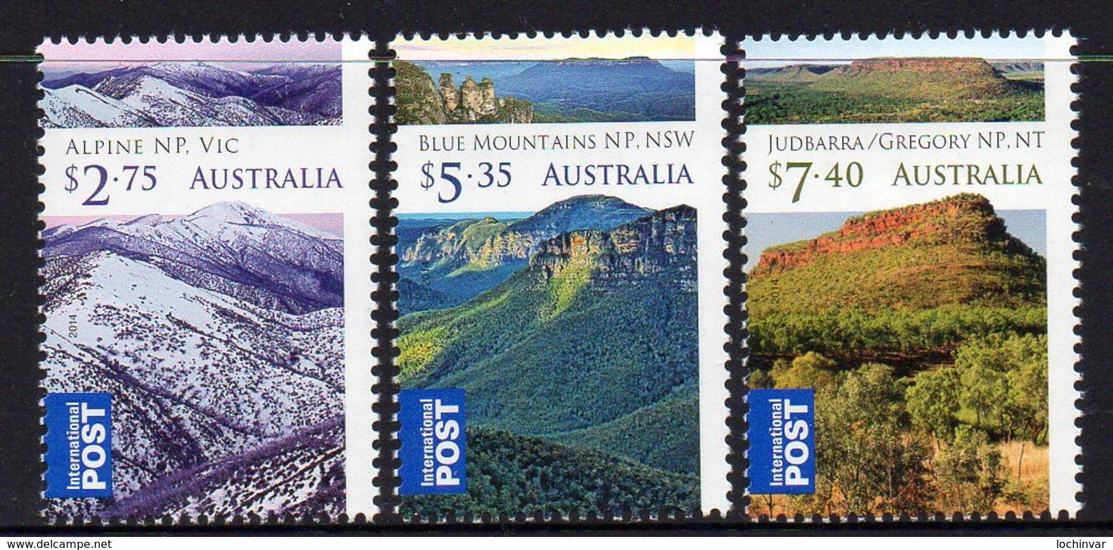 AUSTRALIA, 2014 WILDERNESS AUSTRALIA 3 MNH - 2010-... Elizabeth II
