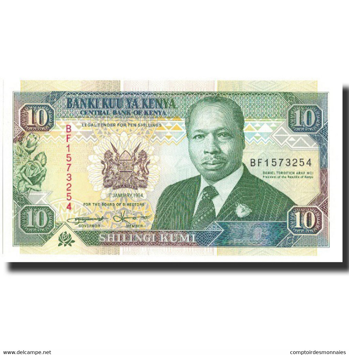 Billet, Kenya, 10 Shillings, 1994, 1994-01-01, KM:24f, NEUF - Kenya