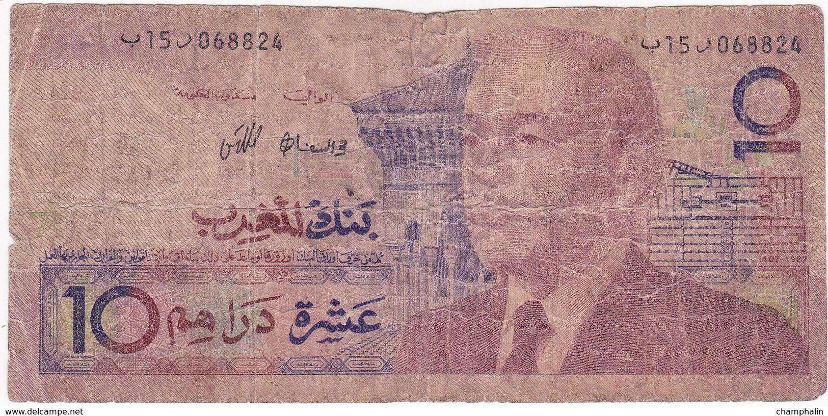 Maroc - Billet De 10 Dirhams - 1987 - Hassan II - Maroc