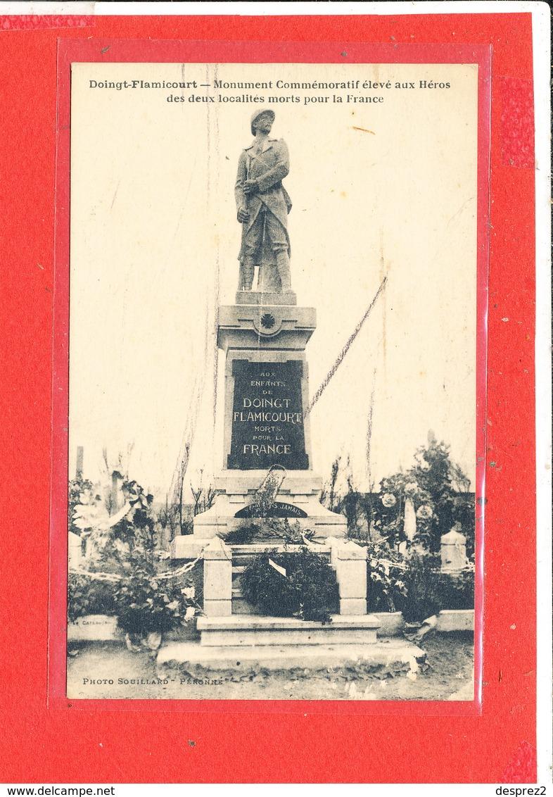 80 DOINGT FLAMICOURT Cpa Monument Aux Morts          Photo Souillard - Autres Communes