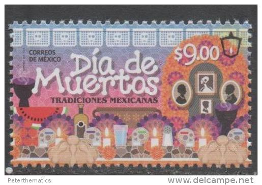 MEXICO, 2015, MNH, DAY OF THE DEAD,CANDLES, 1v - Celebrations