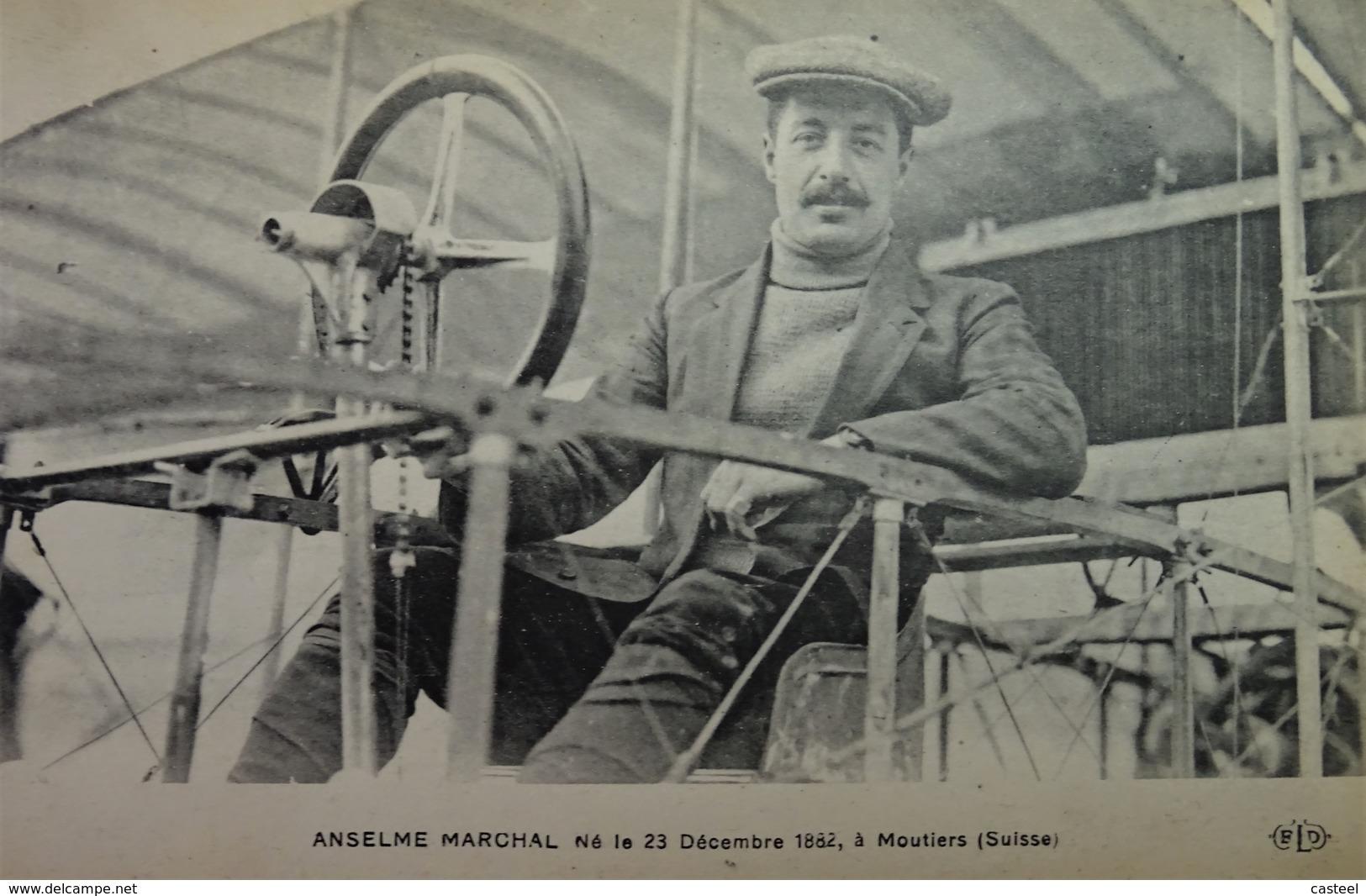 Nos As - Aviation - Anselme Marchal Né à Moutiers - Suisse - Guerre 1914-18