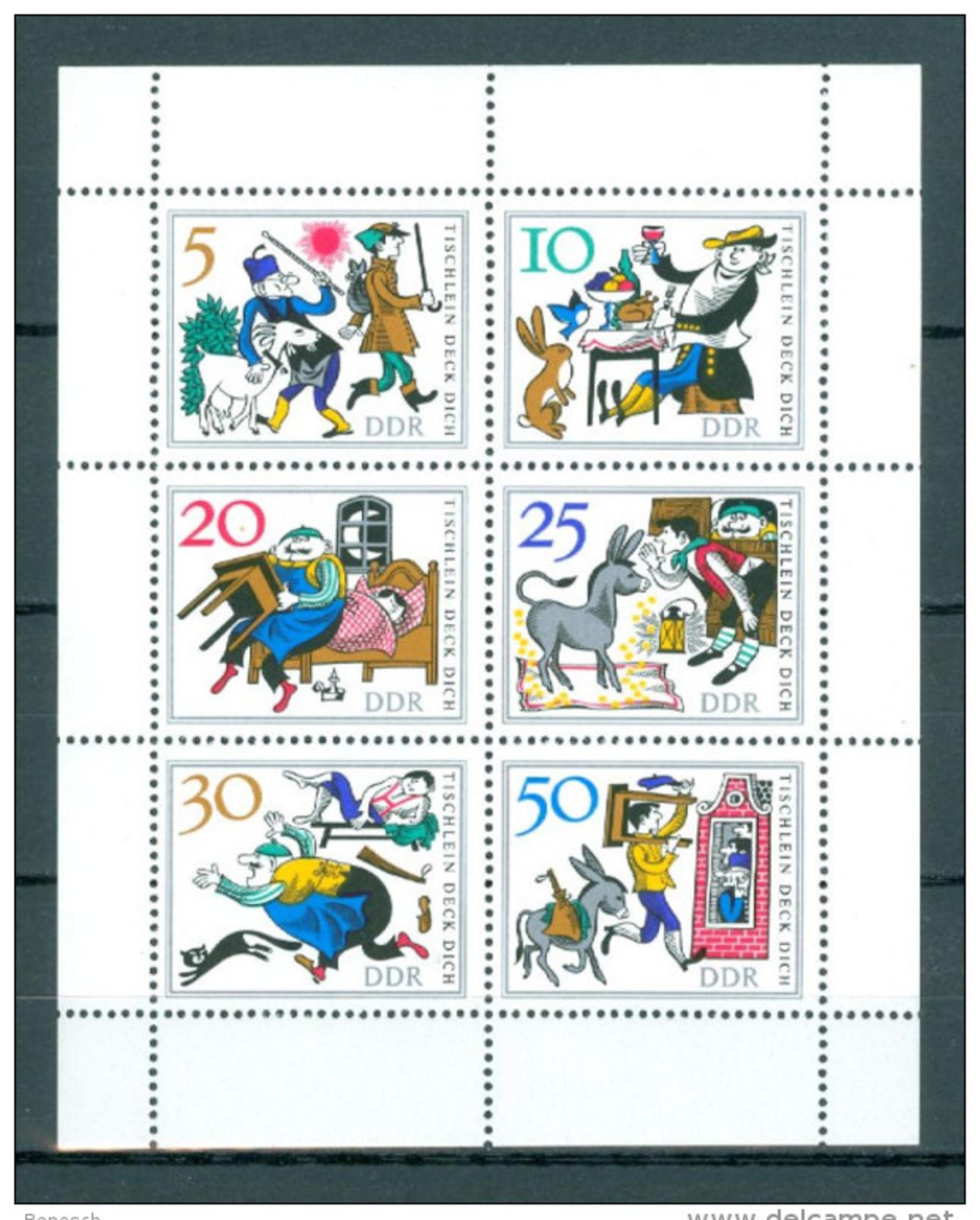 DDR Kleinbogen Mi-Nr. 1236 - 1241 Märchen Tischlein Deck Dich Postfrisch - [6] République Démocratique
