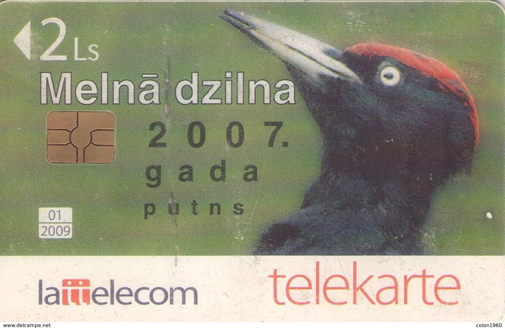 TARJETA TELEFONICA DE LETONIA, FAUNA (022) - Lettonie