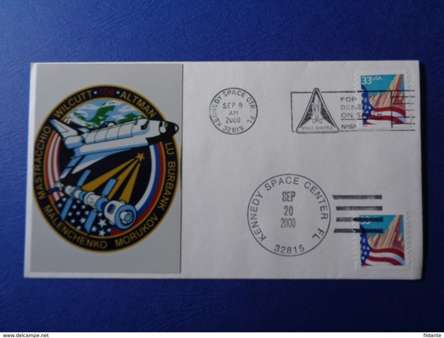 STATI UNITI USA 2000 MISSIONE SPAZIALE STS-106 SPACE SHUTTLE N. 1 BUSTE FILATELICHE - Stati Uniti