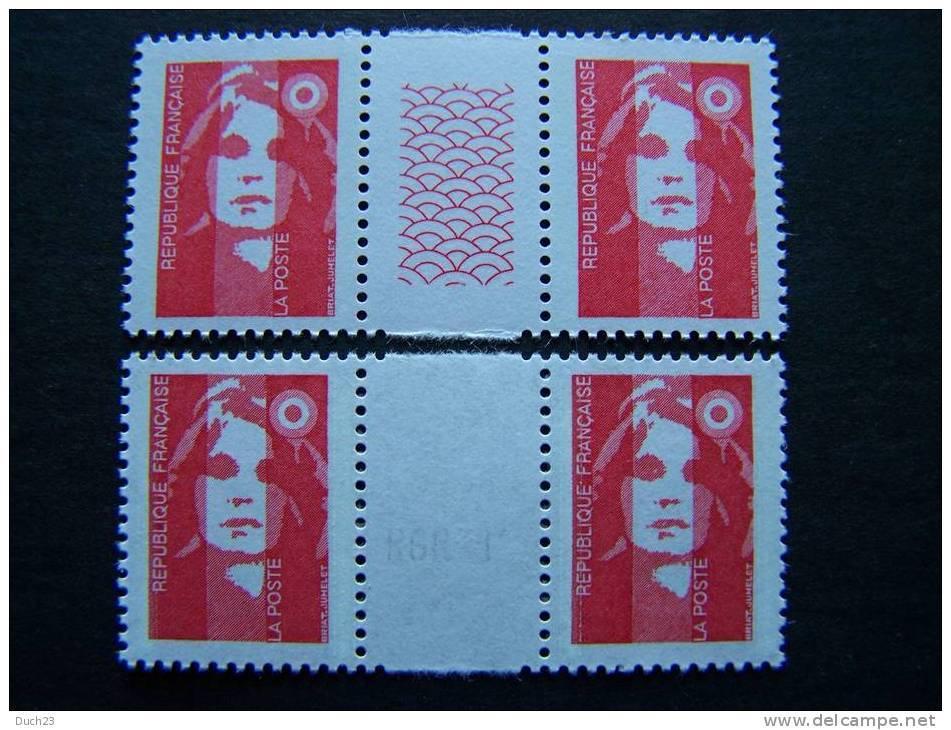 FRANCE: MARIANNE DU BICENTENAIRE (BRIAT) N°2617,2618,2820 Et 2806** 2 Tirages Différents. - 1989-96 Marianne (Zweihunderjahrfeier)