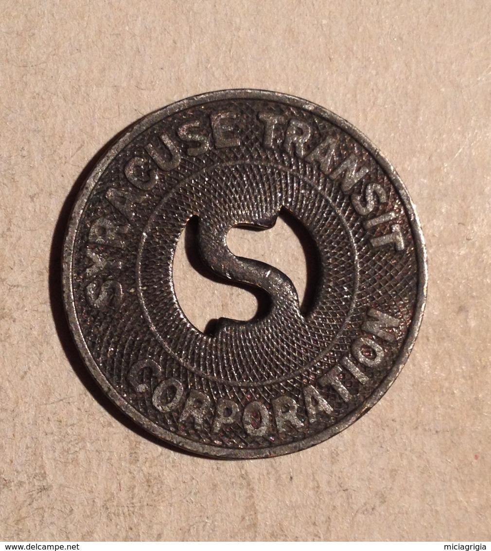 TOKEN JETON GETTONE TRASPORTI TRANSIT SYRACUSE - Monétaires/De Nécessité