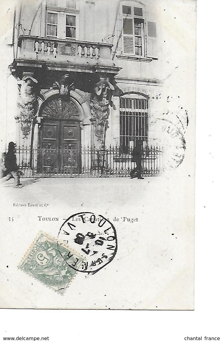 6 Cpa Précurseurs. Toulon:quai Et Arsenal, Porte, Bord De Mer, Théatre, Cariatides, Cathédrale - Toulon