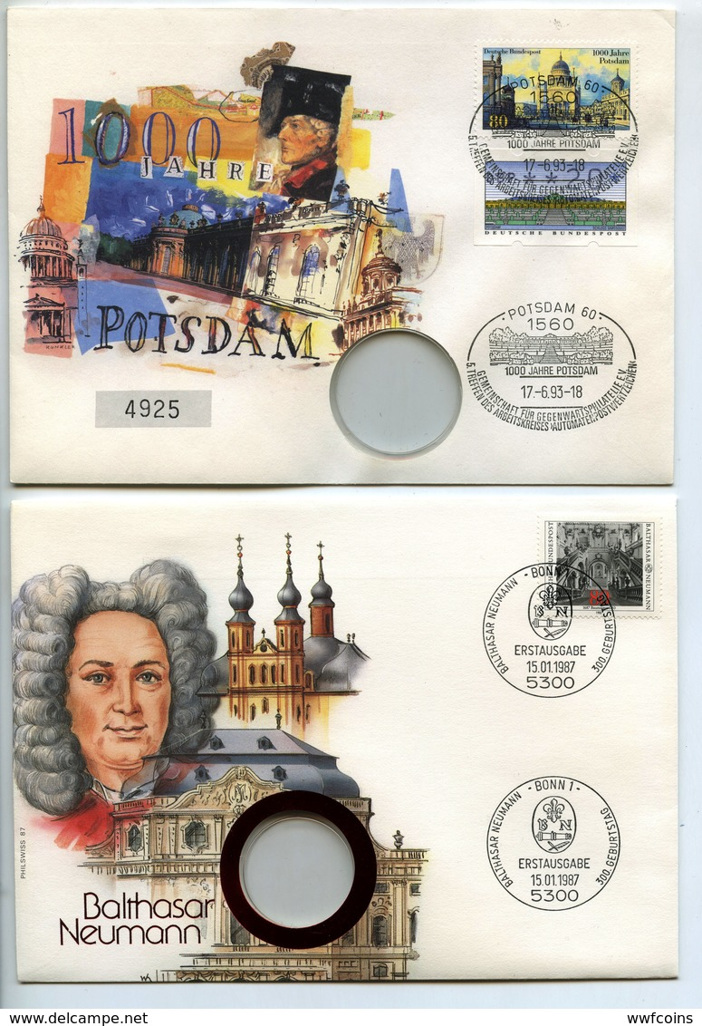 POSTCARD 20 PCS STAMP BUSTA FRANCOBOLLO FIRST COMMEMORATIVE HISTORICAL (03) - Germania