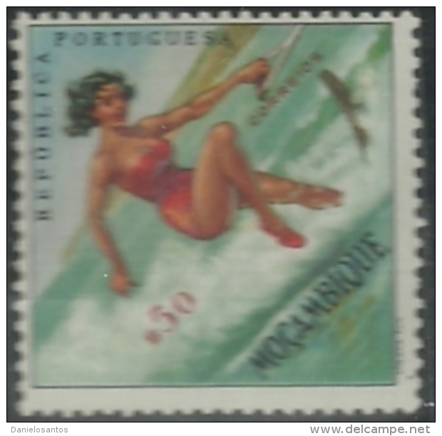 Mozambique Moçambique 1962 Sports Issue Common Design CD48 Water Skiing Canc - Water-skiing