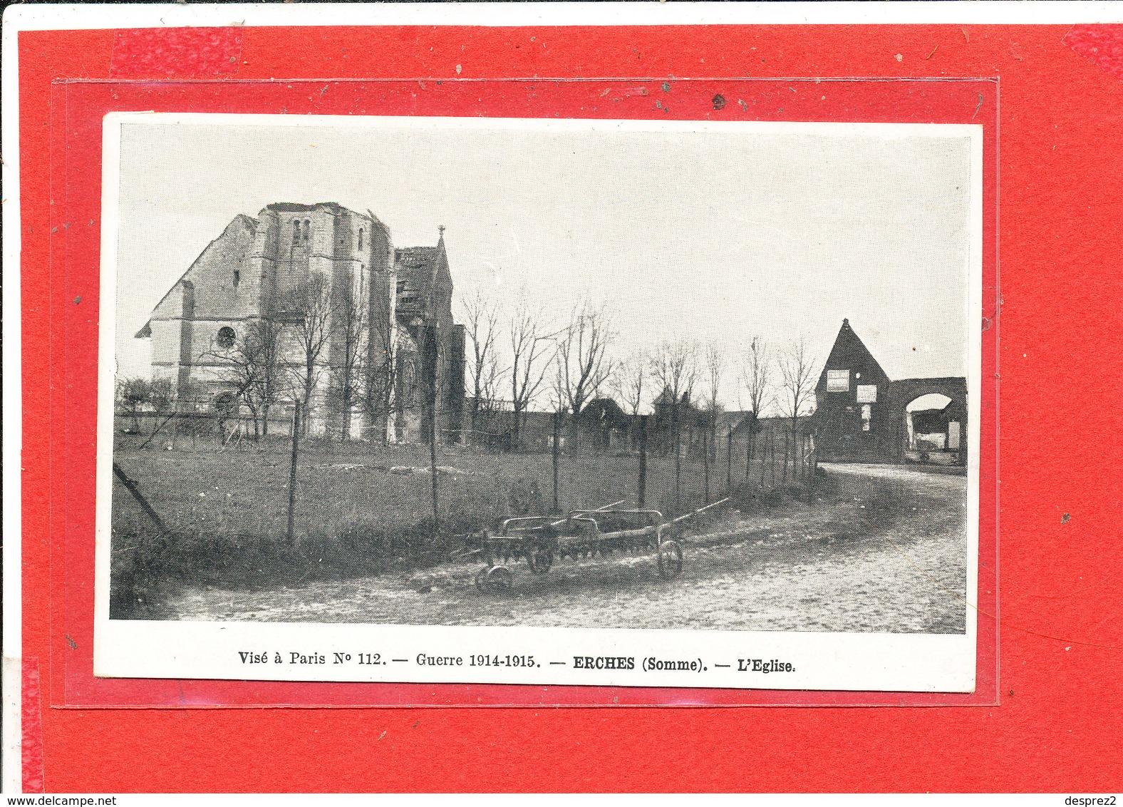 80 ERCHES Cpa L ' Eglise               112 Huret - France
