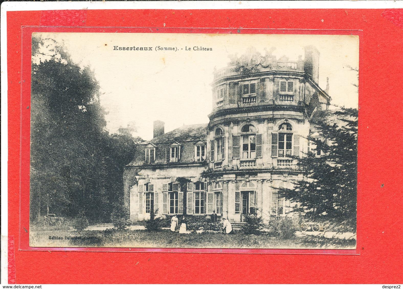80 ESSERTAUX Cpa Animée Le Chateau       Edit Dela..... - France