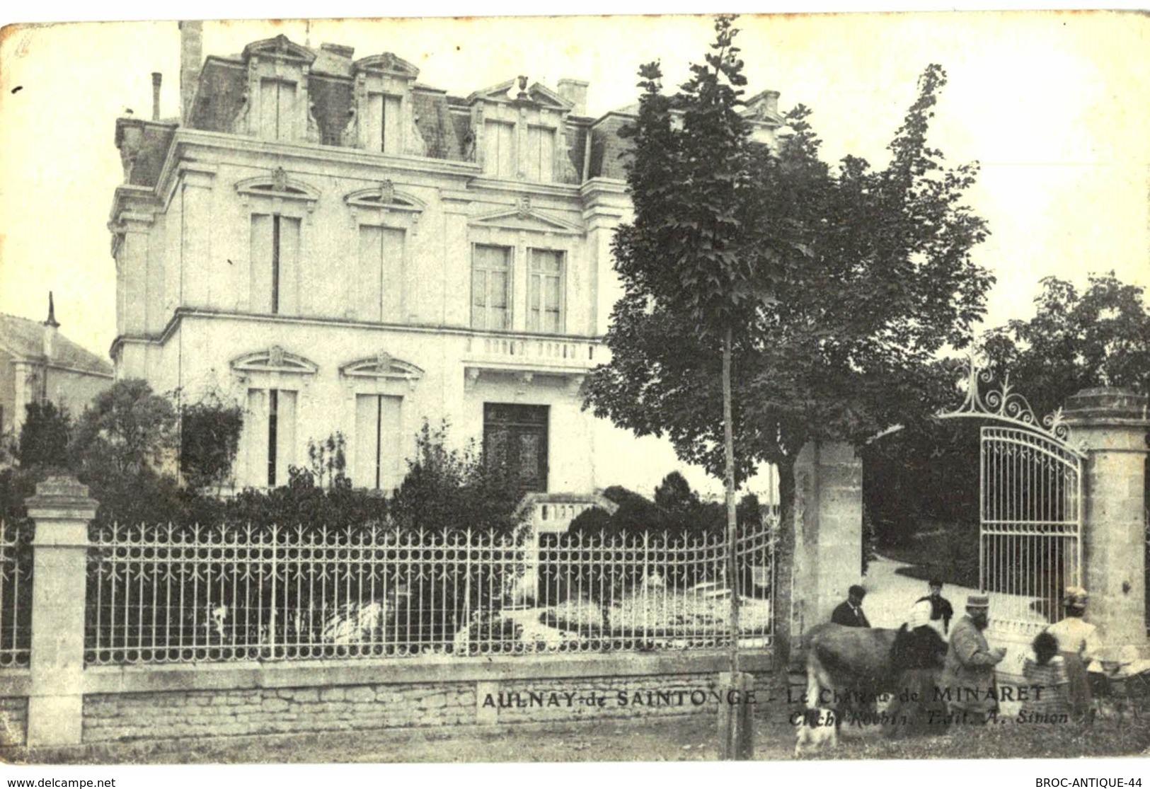 CPA N°20599 - AULNAY DE SAINTONGE - LE CHATEAU DE MINARET - Aulnay