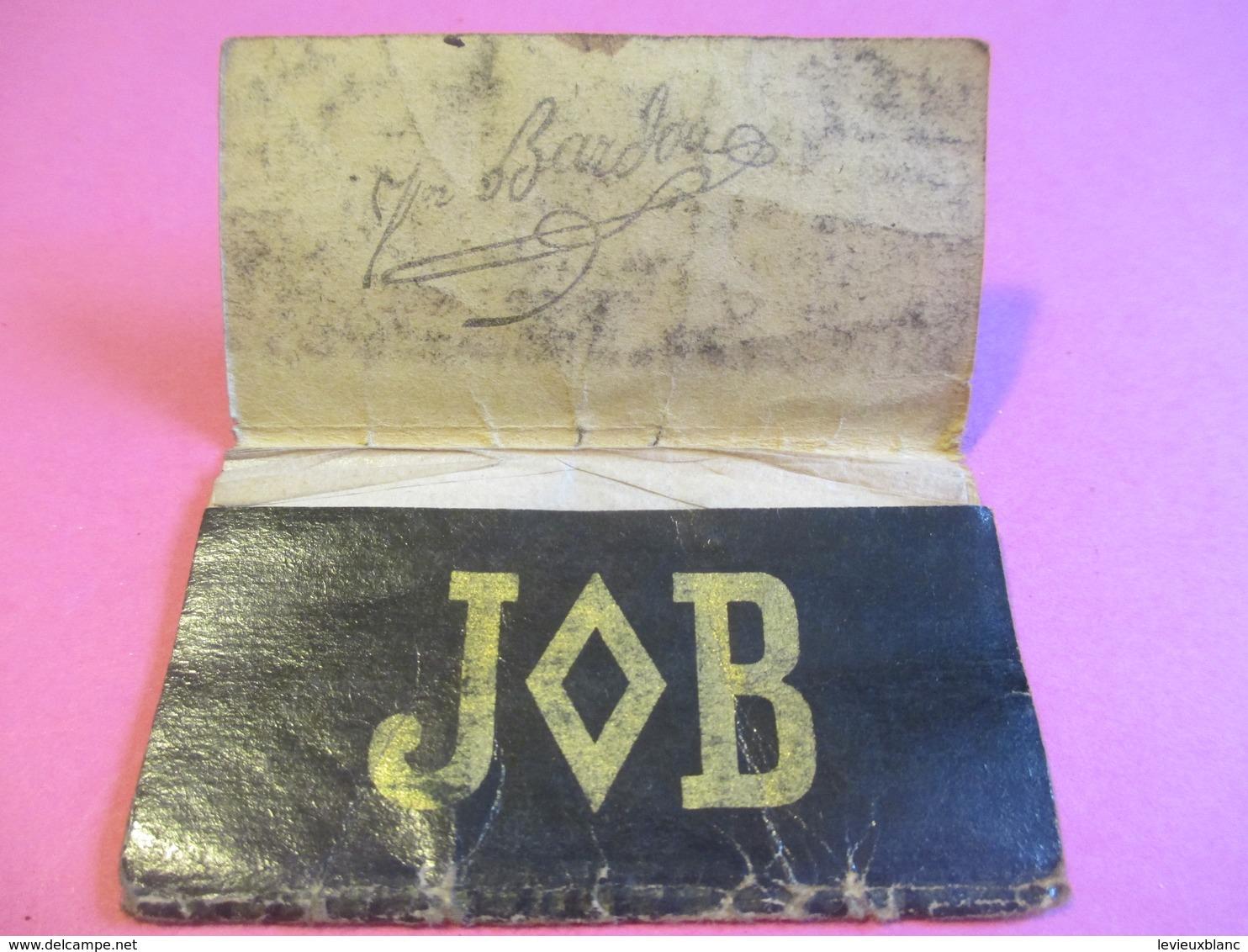 Carnet Papier Cigarettes/JOB /Bardoux/Couverture Souple Noire /Vers 1920-1950  CIG59 - Cigarettes - Accessoires