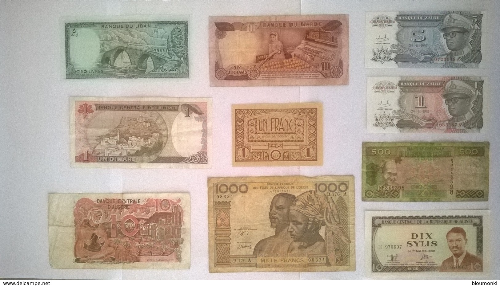 Lot De 10 Billets De Banque AFRIQUE - Billets