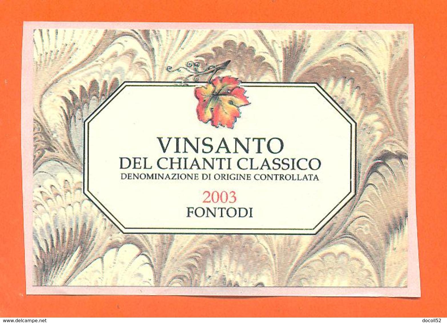 étiquette Autocollante De Vin Italie - Italia Vino Vinsanto Del Chianti Classico 2003 - 75 Cl - Andere