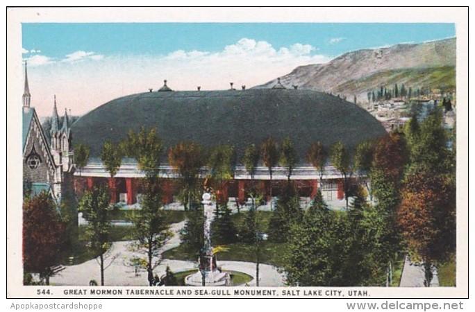 Utah Salt Lake City Great Mormon Tabernacle and Sea Gull Monumen