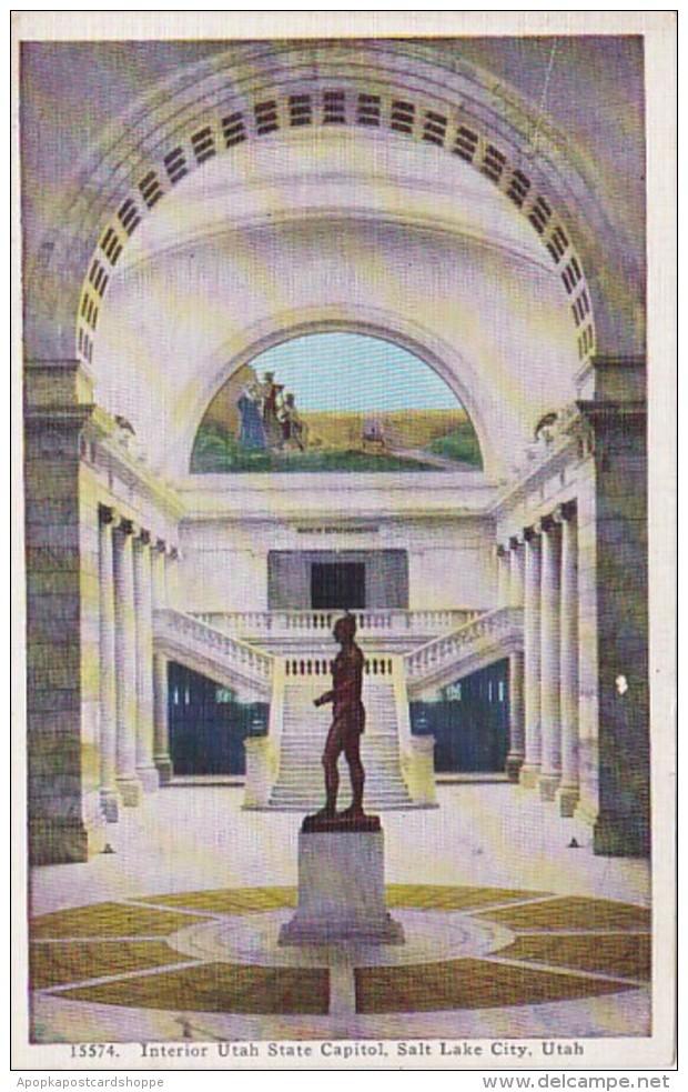 Utah Salt Lake City Interior Utah State Capitol