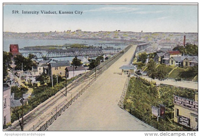Missouri Kansas City Intercity Viaduct Curteich
