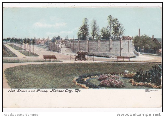 Missouri Kansas City 12th Street and Paseo 1907