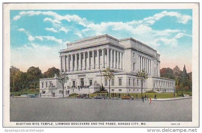 Missouri Kansas City Scottish Rite Temple 1930 Curteich