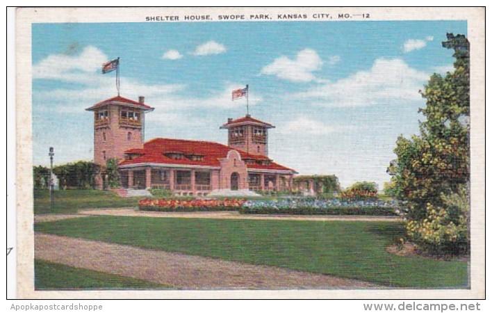 Missouri Kansas City Shelter House Swope Park 1948