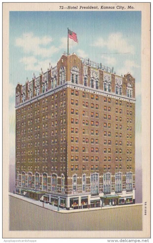 Missouri Kansas City Hotel President 1950 Curteich