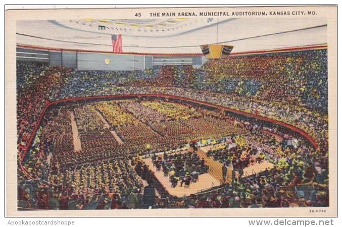 Missouri Kansas City Municipal Auditorium Main Arena 1945 Curtei