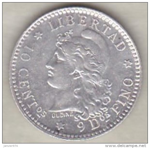 ARGENTINE / TUCUMAN . 10 CENTAVOS 1883. ARGENT - Argentine