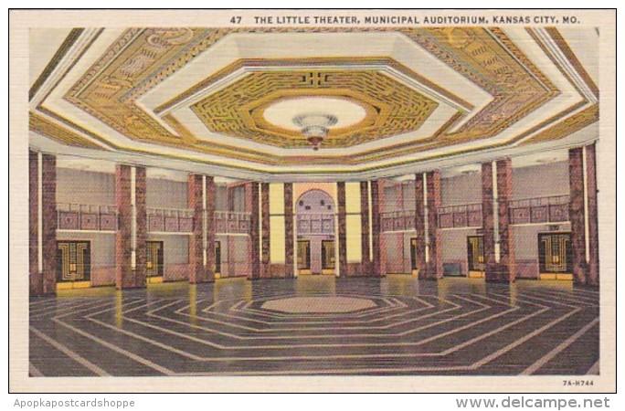 Missouri Kansas City Municipal Auditorium The Little Theatre Cur