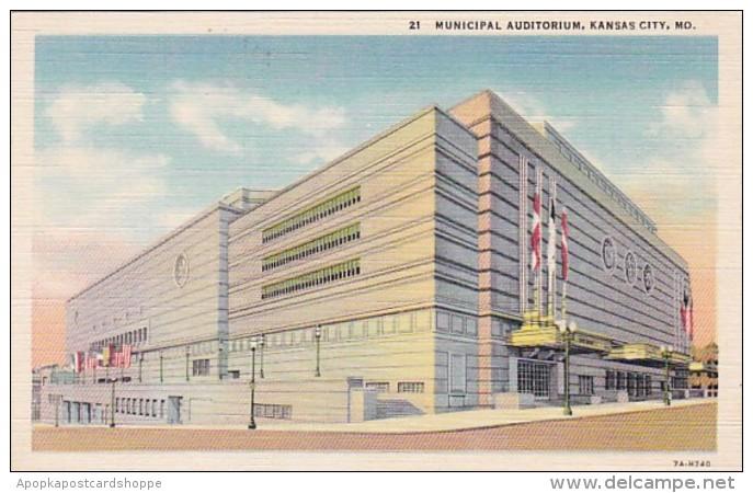 Missouri Kansas City Municipal Auditorium Curteich