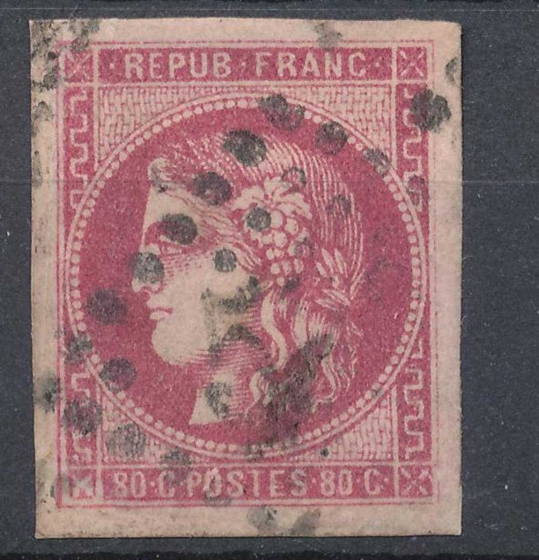 N°49 ROSE FONCE G.C. - 1870 Emission De Bordeaux