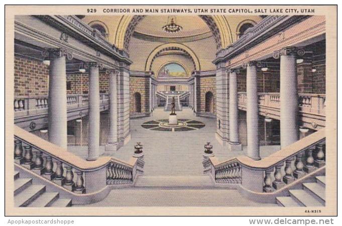 Utah Salt Lake City Utah State Capitol Corridor and Main Stairwa
