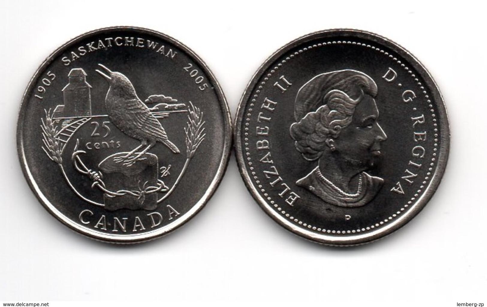 Canada - 25 Cents 2005 UNC Saskatchewan Lemberg-Zp - Canada