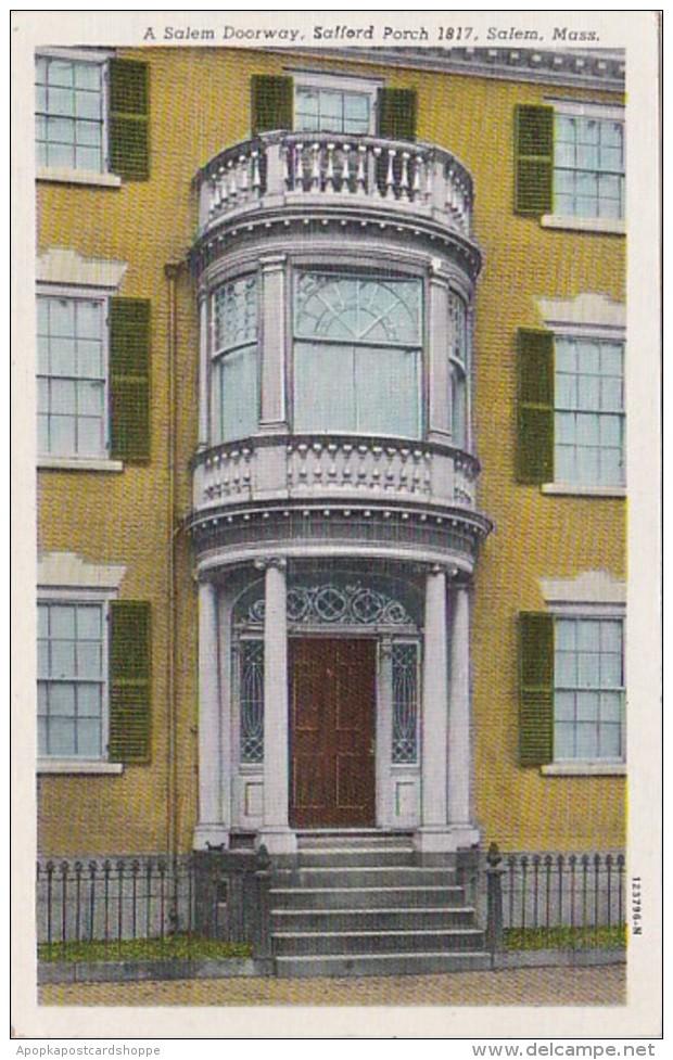 Massachusetts Salem A Salem Doorway Safford Porch 1817 Curteich